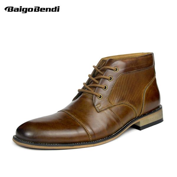 Acheter D'affaires Chaussures Bout Bottes D'homme 47 Casual Homme Habillé ArriveeTaille En 46 Pointu Lacets Deux Nouvelle Oxfords Hommes ZXPkTuOi