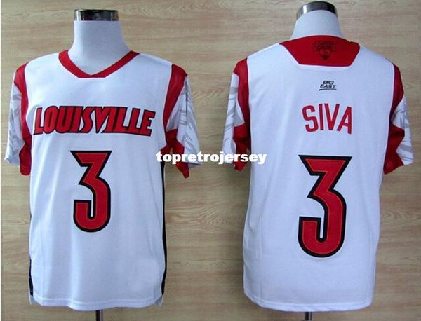 Retro Factory Outlet- NCAA Louisville Cardinals Jersey #3 Peyton Siva College Football Jerseys,Retro football jersey,size:M-XXXL