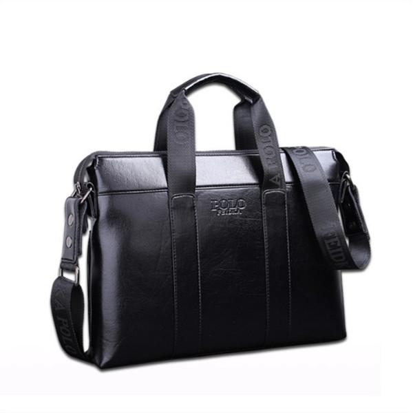 2018 Famous Brand Designer Briefcase Simple Mens Leather Briefcase Solid Large Business Man Bag Laptop Bag Messenger Bag for Men