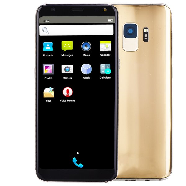 Barato Goophone S9 Desbloqueado 2G GSM Dual Core MTK6572 512 MB de RAM 512 MB ROM Android 7.0 5.5 polegada IPS 960 * 540 HD GPS WiFi Câmera 2.0MP Smartphone