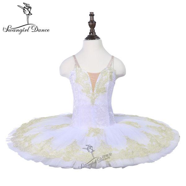 bambinello bianco cigno lago danza costume balletto tutu 7 strati ballerina prestazioni balletto costume danza tutu18070