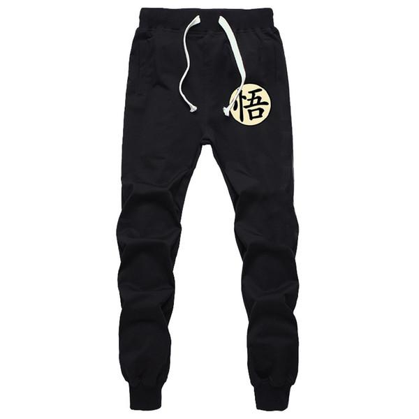Casual divertente stampa Goku pantaloni da uomo in cotone autunno inverno grigio uomo pantaloni sportivi pantaloni più nero Pantalon Pantalon