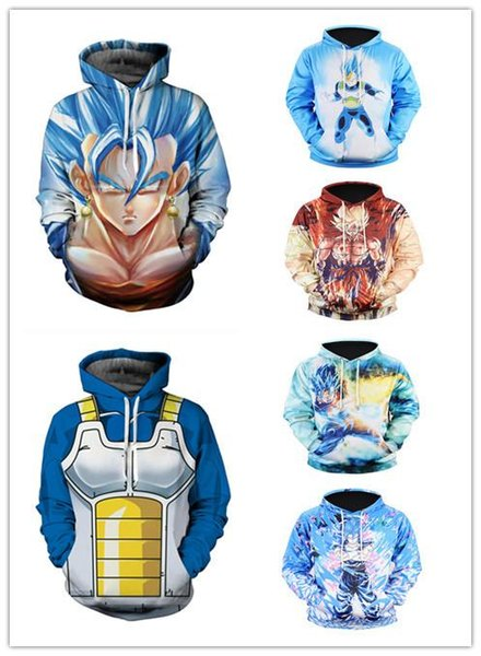 Explosion models Goku anime Dragon Ball 3d hooded sweater muscle male cartoon large size European and American hoodie Hedo jacket