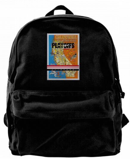 2017 playoffs clipper slogan california map Canvas Shoulder Backpack For Men & Women Teens College Travel Daypack Design handbags