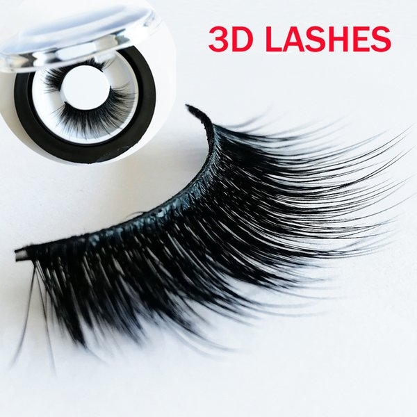 hot sale strip eyelashes high quality 3D faux Mink Hair Eyelashes Sexy Eyelash Full Strip accept private label on stickers GR292