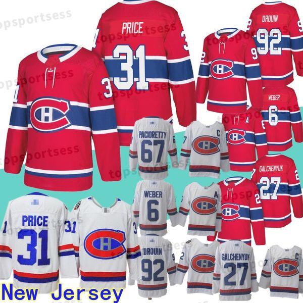 2019 31 Carey Price Jersey Montreal Canadiens 92 Jonathan Drouin 67 Max. Pacioretty 27 Alex Galchenyuk 6 Shea Weber Eishockeytrikots genäht