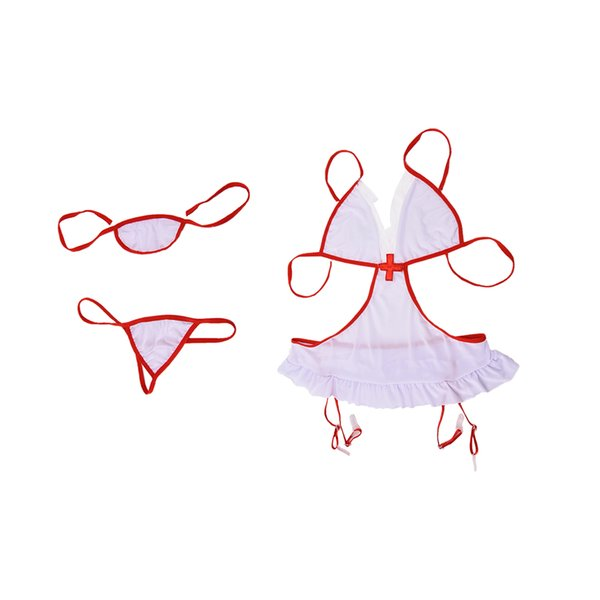 hot COSPLAY nurse babydoll temptation erotic costume transparent sexy underwear teddies sex product lenceria sexy lingerie
