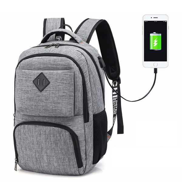 Men Women Backpack 15 Inch Computer Bag with USB Charging Interface Large Capacity Male Outdoor Sport Hiking Travel Training Bag