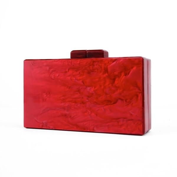 2018 New Brand Fashion Wallet Design Women Acrylic Evening Bag Luxury Red Pearl Party Handbag Elegant Vintage Casual Prom Clutch