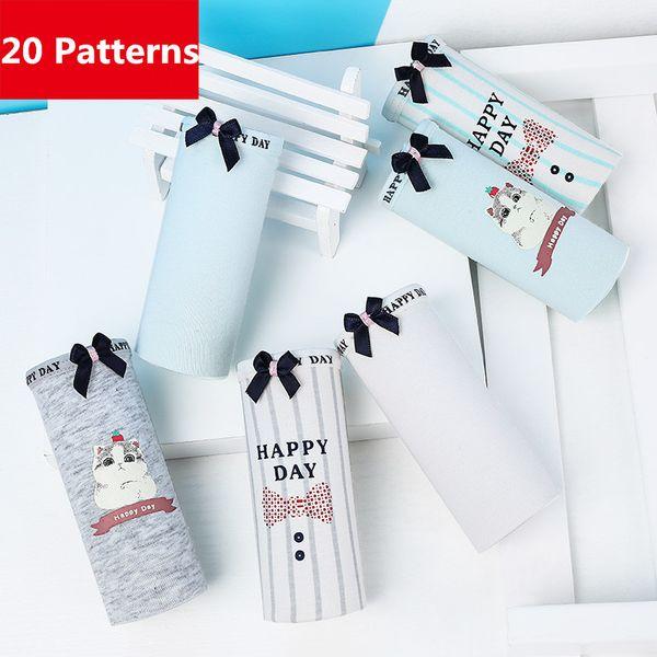 6PCS/Set Cute Funny Print Cotton Panties Women Breathable Ladies Comfort Cotton Briefs Sexy Women Lingerie Underwear