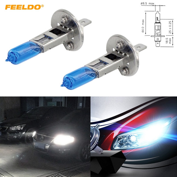 FEELDO 20pcs 12V 100W White H1 Car Fog Lights Halogen Bulb Headlights Lamp Car Light Source Parking #2024