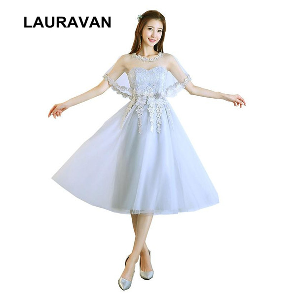 wholesale 16 girls fairy bridesmaid tea length ball gown teen pageant formal occasion dresses short-tulle-dress 2018 free shipping