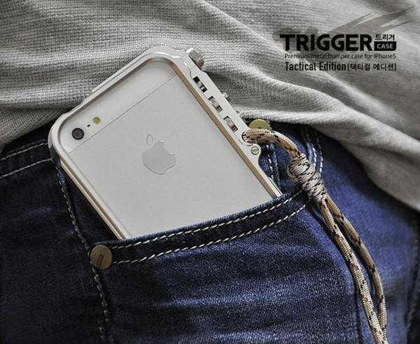 4th design Trigger paraurti in metallo per iphone X 7 8 5 5S SE 4 6 6S Plus premium Custodia in alluminio aeronautico cassa del telefono edizione tattica