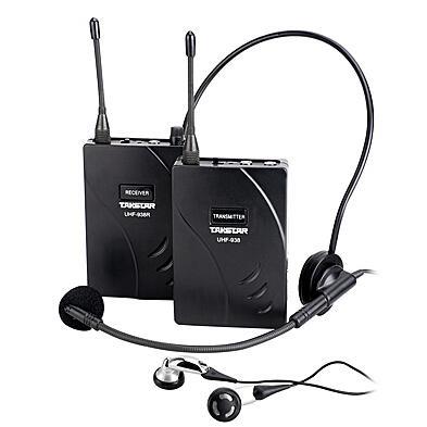 Original Takstar UHF-938 / UHF 938 Sistema de guía turístico inalámbrico Micrófono inalámbrico de frecuencia UHF Transmisor + Receptor + MIC + auricular