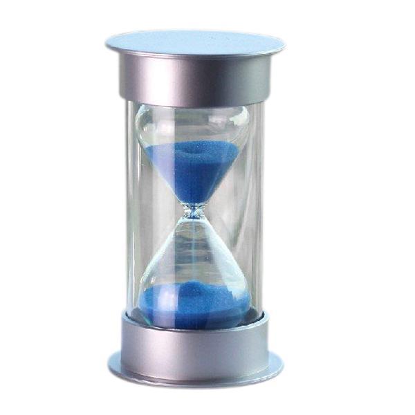 Plastic Crystal Sandglass 10 Minutes Sand Clock Decoration Sandglass Timer blue
