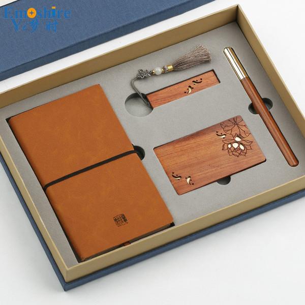 Großhandel Unterschrift Stift Usb Flash Treiber Notizblock Visitenkartenhalter Holz Kugelschreiber Klassische Chinesische Art Geschenk