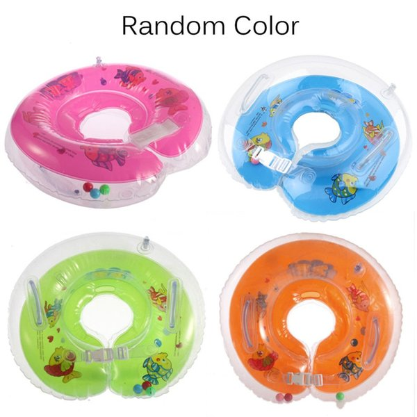 1pcs Tube Ring Safety Baby Aids Infant Swimming Neck Float Inflatable 1-18 months Babies Safe Security Swim Equipment Bathtub
