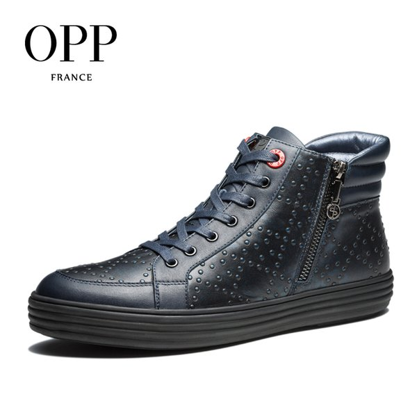 Opp High Top Men Boots 2017 Genuine