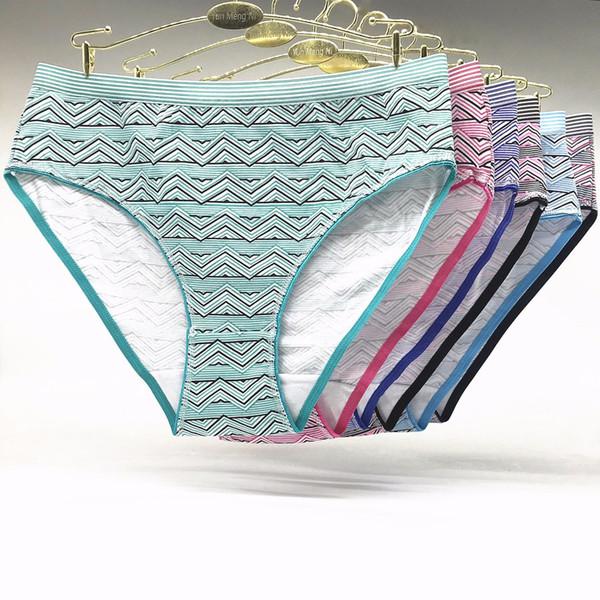a7fb94199 Free Shipping Big yards 2XL 3XL 4XL Fashion Print underwear Women s panties  Large size Lady Mummy Pants Cotton briefs 89256