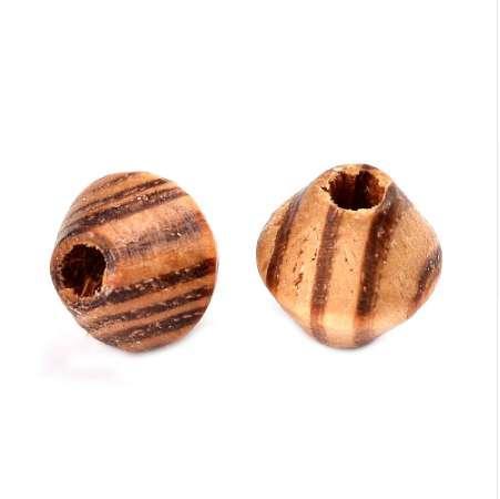 Pandahall 20 unids 16x15mm cuentas de madera naturales gran agujero cuentas espaciador Bicone para la fabricación del arte de la joyería DIY Perú kralen cuentas