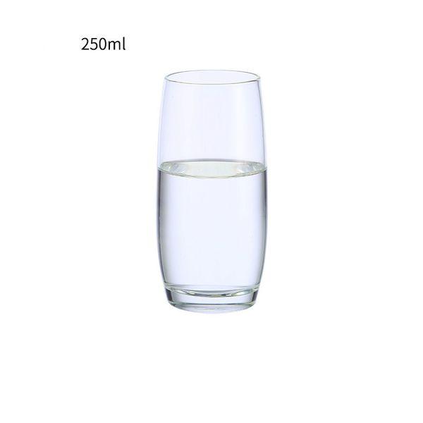 2 Unidades / lote Taza de Zumo de Leche Hogar Transparente A Prueba de Calor Vidrio Espesado Tazas Taza de Regalo de Moda
