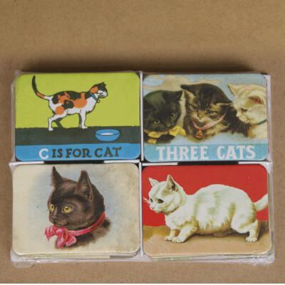 2017 Novo PASAYIONE Decoração de Casa 24 PCS Gato Dos Desenhos Animados Geladeira Ímãs de Geladeira Conjunto de Projetos de Gato Animal Adesivos Magnéticos Mural