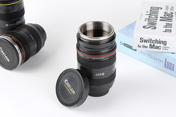 60pcs Caniam LOGO stainless steel liner Zoomable telescopic lens cup coffee Mug (Zoom Version) DHL Fedex Free Shipping