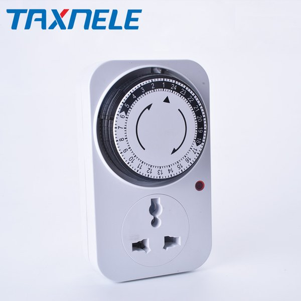 24 Hour Programmable Timer Switch Universal Socket Mechanical Timer 220V 16A Europe Plug EU plug