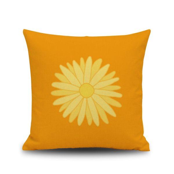 Simple design cushion cover linen pillow case square 44cm standard size home sofa seat adult children kid pet use pretty lemon stripes line