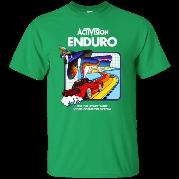 Enduro, Activision, Yarış, Retro, Atari, 2600, Konsol, 1980'ler, Video, Oyun, Ga Serin Rahat gurur t gömlek erkekler Unisex