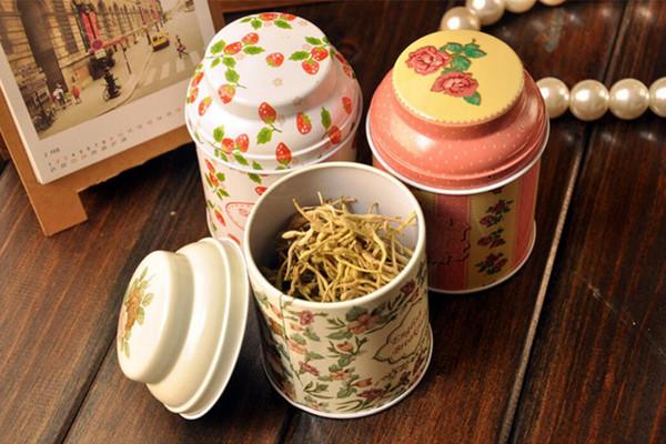 free shipping Vintage style flower series tea box tin box storage case organizer Iron case storage container T5437