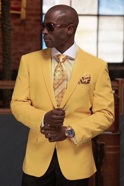 Custom Made Yellow Groom Tuxedos Beautiful Men Formal Suits Business Men Wear Wedding Prom Dinner Suits (Jacket+Pants+Tie+Girdle) NO;679
