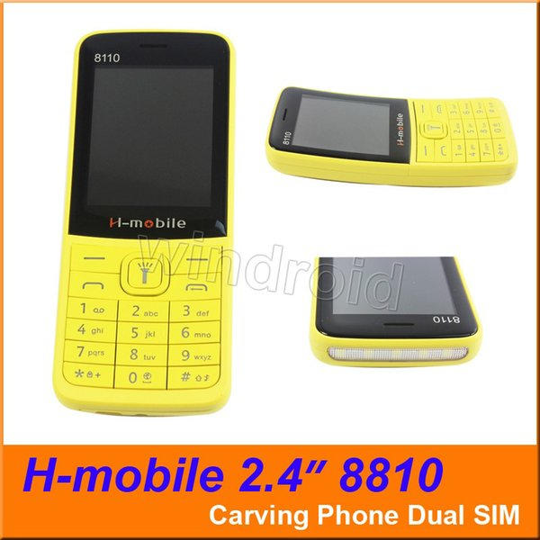 H-mobile 8810 Carving phone 2.4 inch Cheapest 2G GSM unlocked Mobile Phone NO OS Dual SIM Big Speaker Flash Light Cell Phones DHL 30pcs