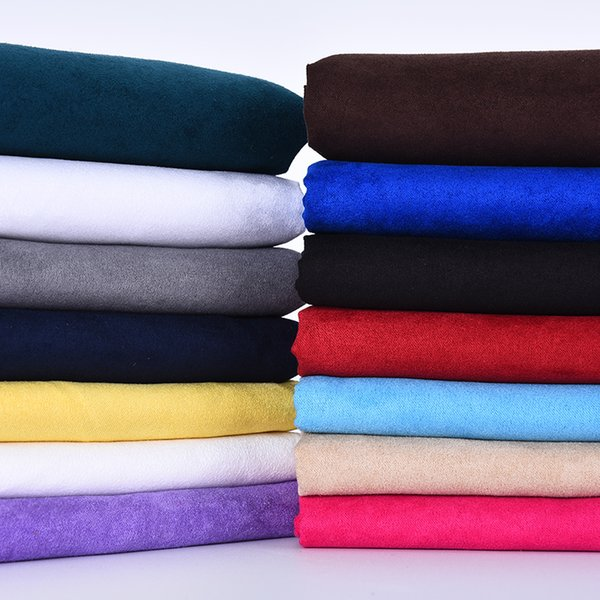 150CM*50CM Fabric Soft Polyester Faux Cloth Black White Blue Pink Red Khaki cheap Fabric Tissus Material