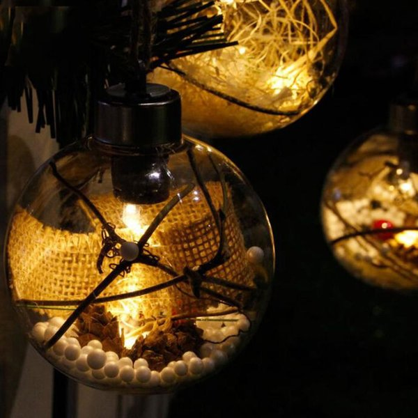 1 pcs nouvelle arrivée arbre de noël boule led lumières décorations de noël en plein air jardin camping suspendu LED boule ronde lumières