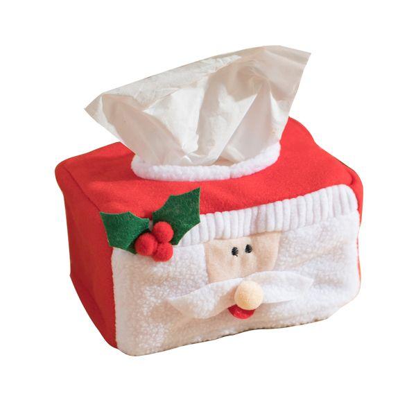 Christmas Tissue Box Decoration Xmas Festival Home Office Travel Car Decor Napkin Holder for Paper Christmas Day Decoration