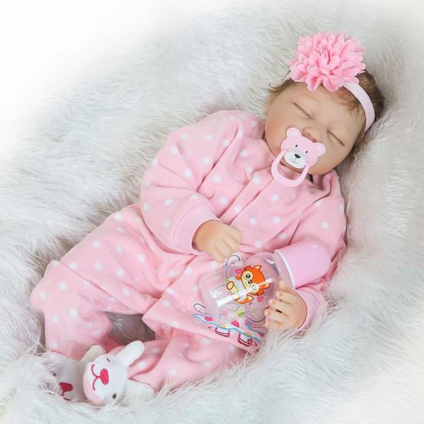 55 cm Silikon Baby Kids Playmate Geschenk Mädchen Infant Alive Stofftiere für Bouquets Puppe Bebe Reborn Spielzeug Foto Requisiten