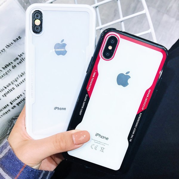 Newest Arrival Soft Clear glass Cases For IPhone XR XS MAX 8 7 Plus 6S Cradle Design free shipping