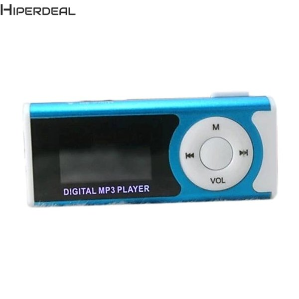 HIPERDEAL New MP3 Player Support 16GB Micro SD TF Card USB Clip Mini LED Portable LCD Hot 17Dec13 Drop Ship