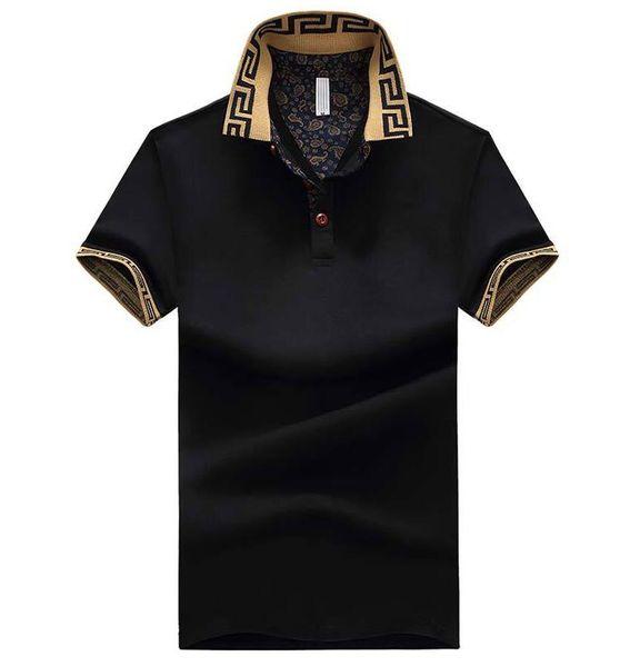 Erkek Polo Gömlek Tarzı Yaz Moda Erkekler Yaka Polo Gömlek Pamuk Slim Fit Polos Top Casual Camisas Masculinas Artı Boyutu M-5XL 03