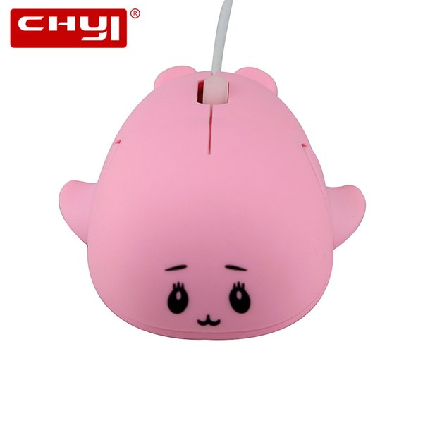 Mini USB Wired Mouse Cute Animal Pattern 1200 DPI Optical USB Cable Computer Mice Lovely Dolphin Shape Mouse For Laptop Kids