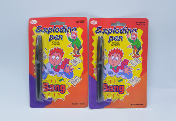30pcs/lot Birthday Halloween Party Trick Exploding Pen Props April fool's Day Pranksters Pen Toys Tool Kids Party Funny Toy Supplies