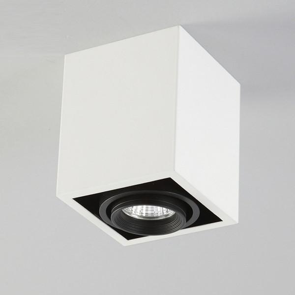 NOUVEAU lumière de boîte carrée d'ouverture de plafond sans éclairage de tache LED 5W LED Grille projecteurs vésicule biliaire réglage de l'angle 360 anti-éblouissant