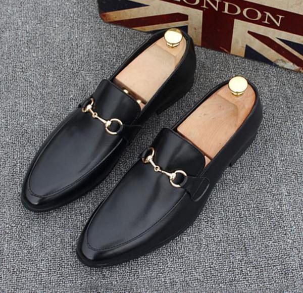 Maliyet-etkin erkek ayakkabı loafer'lar ayakkabı Lüks Parti rahat Ayakkabılar, hakiki Deri Louisfalt Spike Dantel-up Rahat Ayakkabılar Tasarımcı Slaytlar n73