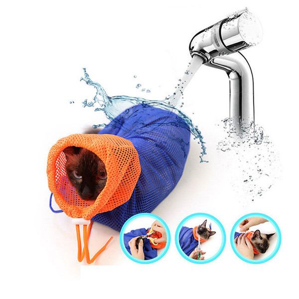 Cat Bath Bag Multifunctional Cat Clean Washing Bag Grooming Wash Supply Medicine Injecting Pet Nail Trimming Tool FFA342 Cat Grooming