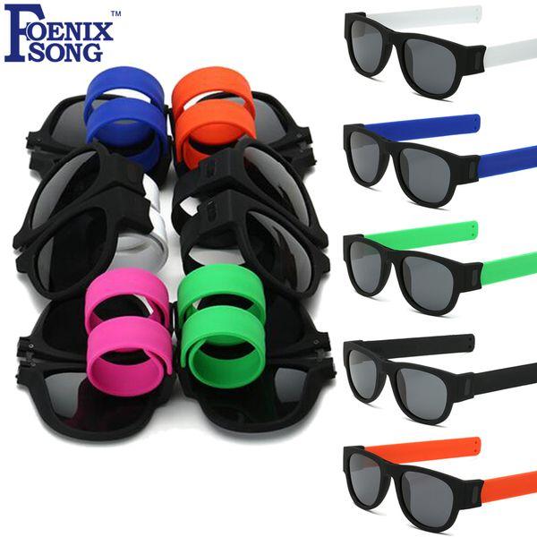 FOENIXSONG мужские женские поляризованные солнцезащитные очки UV400 защиты объектива складная рамка солнцезащитные очки Oculos де соль дети пощечину очки