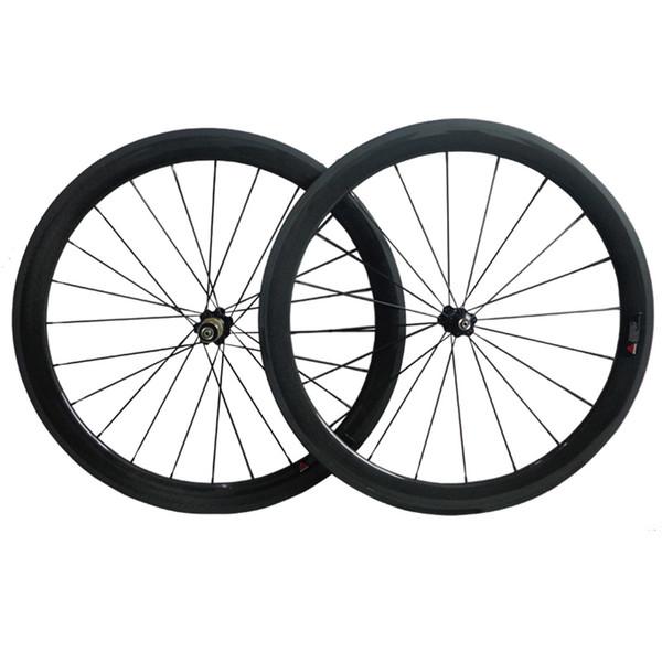 as rodas da bicicleta 50 milímetros gancho / tubular de carbono estrada fibra tecer 3k mate / lustroso acabamento Novatec 271 concentrador 20/24 orifícios