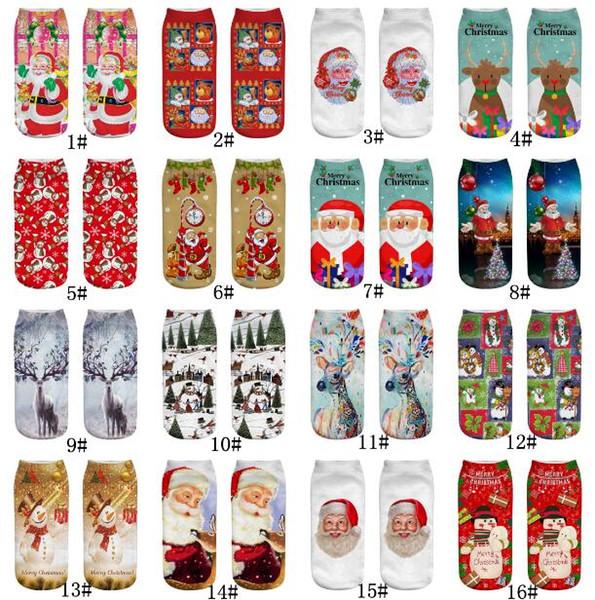 Compre 32 Estilo Moda Lindo 3D Impreso Patrón Santa Claus Emoticonos ...