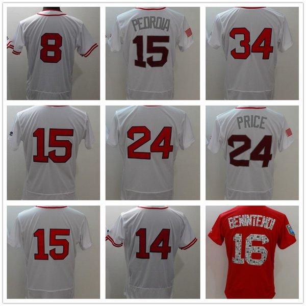 info for 05506 43558 2018 Mens Boston Red 34 David Ortiz Baseball Jersey Black White Orange Gray  Grey Green Salute Players Weekend All Star Team Logo Cooperstown From ...