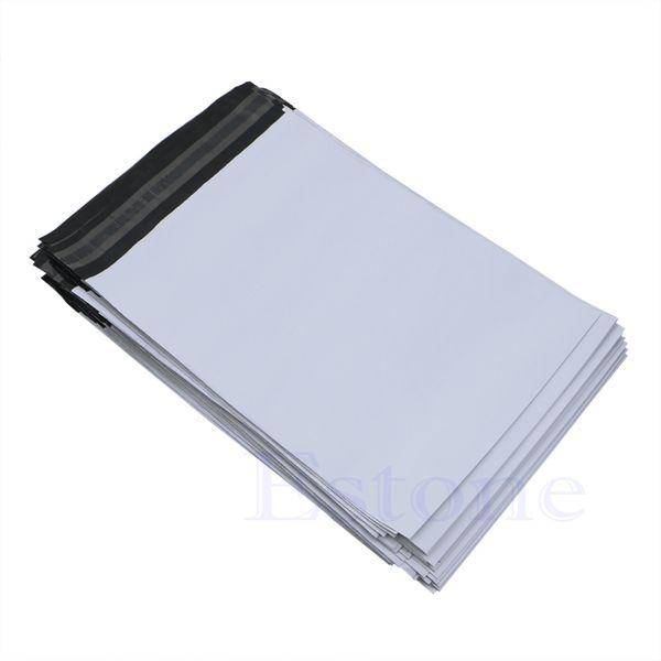 100 Adet 20 * 34 cm Poli Mailer Plastik Nakliye Posta Çanta Zarf Polybag Yeni